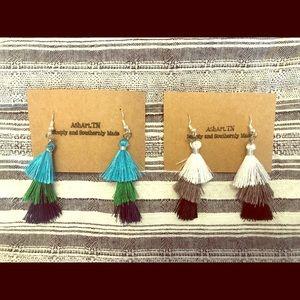 Tassel earrings. Handmade. Price per set.